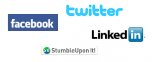 Social Media Websites - Facebook, Twitter, LinkedIn, Stumble Upon
