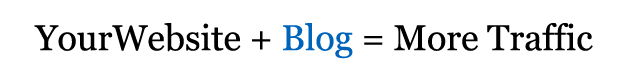 blogs will increase website traffic