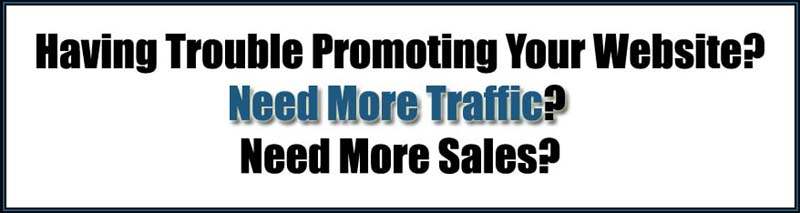 trouble promoting website traffic and sales