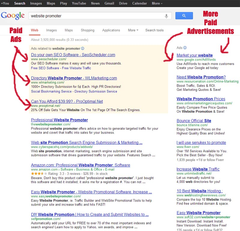 Google Adwords Paid Advertising