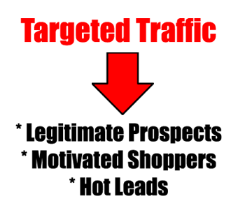 generate targeted traffic, prospects, shoppers and leads